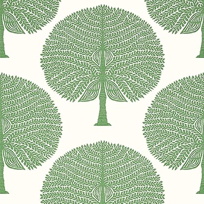 Thibaut Mulberry Tree Wallpaper in Green